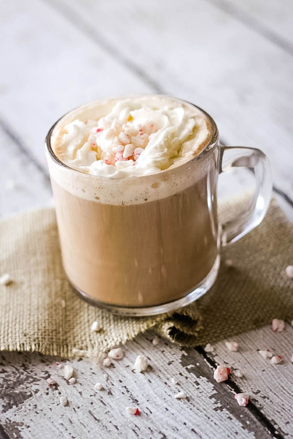 My Homemade Peppermint Mocha Coffee Creamer is a cinch to