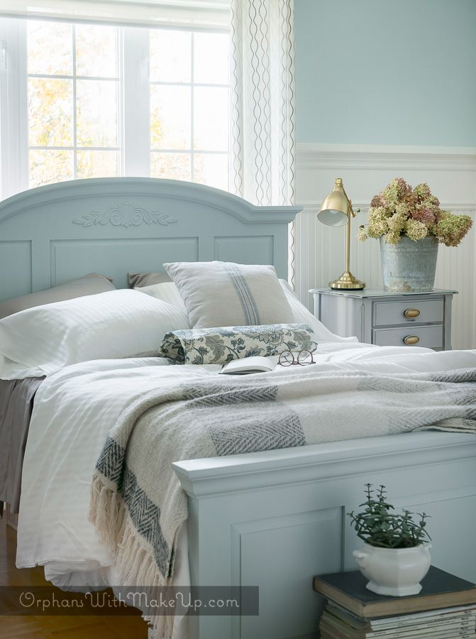 PINE BED MAKEOVER & THIS 'N THAT   Painted bedroom ...