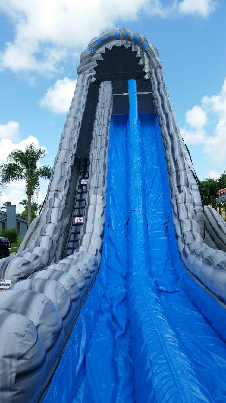 Biggest Water Slide Bounce House In Florida The Twister Water Slides Backyard Big Water Slides Water Slide Bounce House