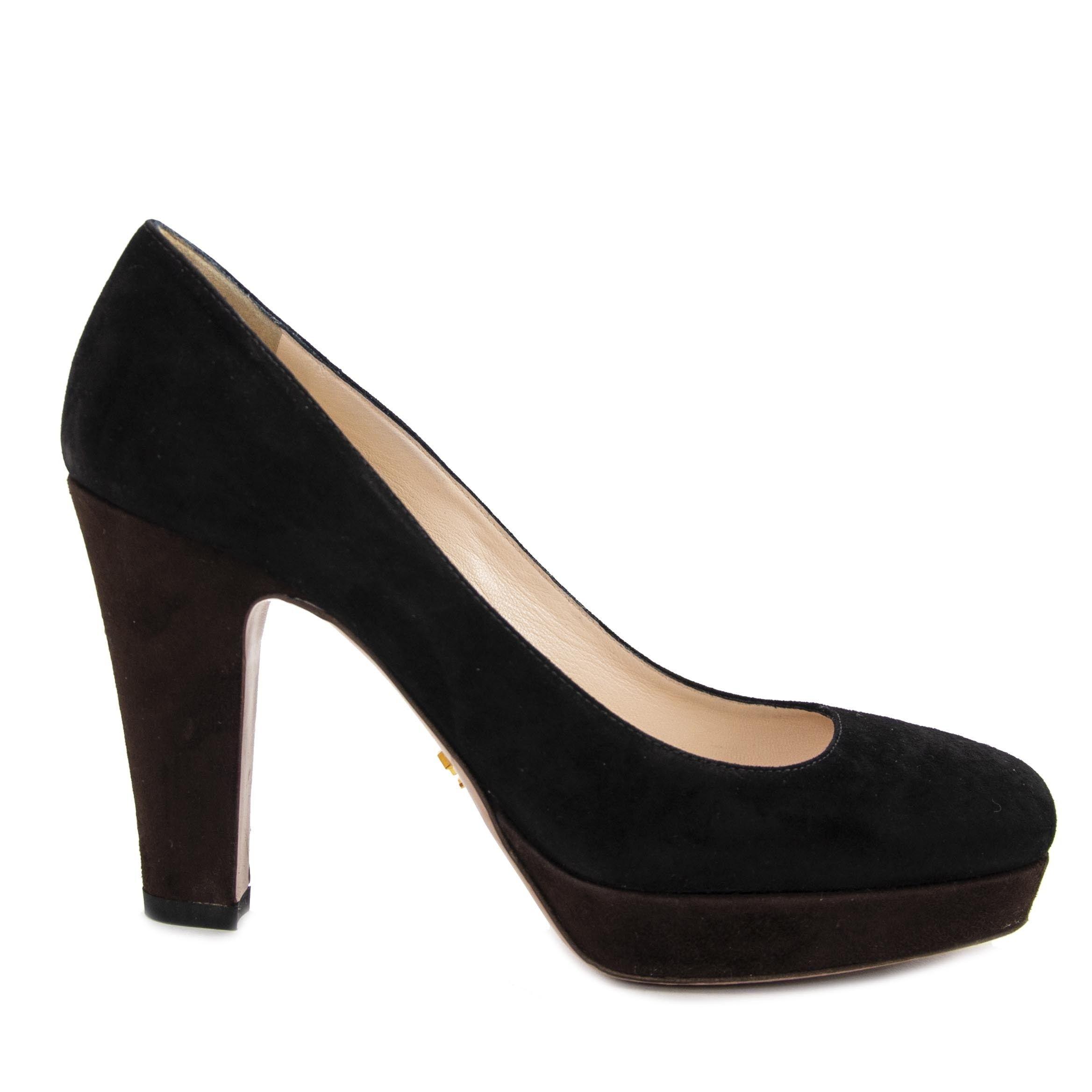 c2e03e7e968ba Prada Brown And Black Suede Heels - size 38 | Killer shoes we LOV in ...