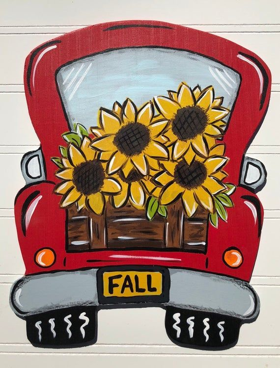 Photo of Sunflower wreath signs,sunflower wreaths,red truck wreaths, vintage trucks,floral decor,wreath supplies, Wreath signs, wood signs,gifts