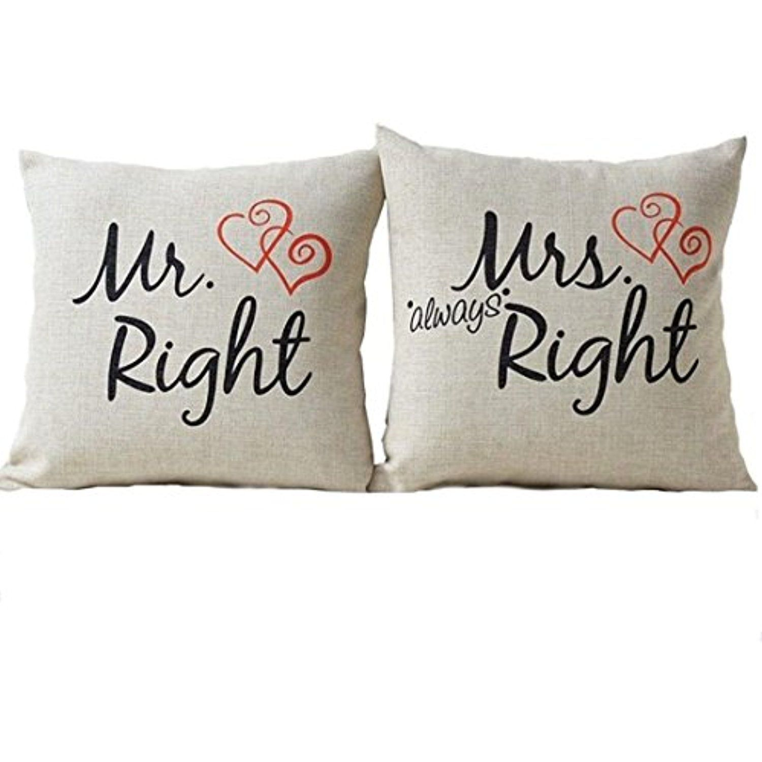 Youngnet 2pcs Mr Right Bedding With Images Festive Pillow