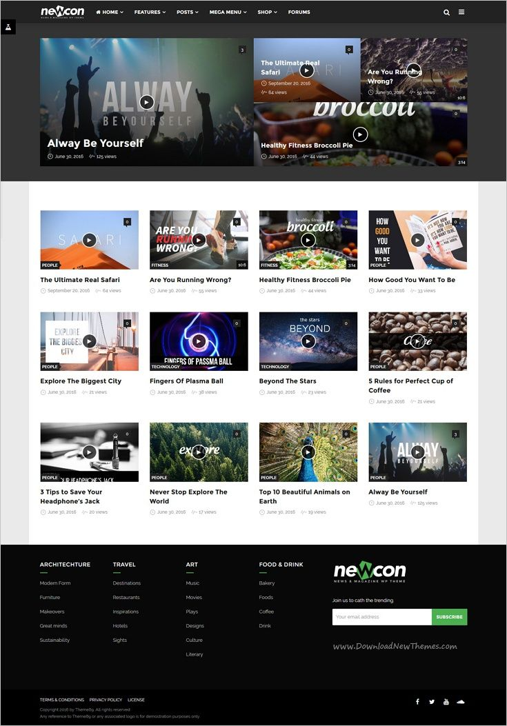 Newcon is a powerful responsive #WordPress theme for #news ...