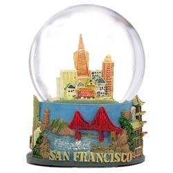 San Francisco Snow Globe Skyline Snow Water Globes