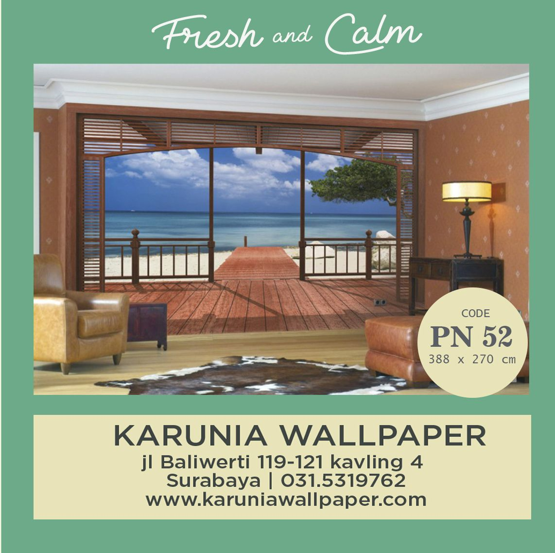 DINDING WALLPAPER FRESH 3D KARUNIA WALLPAPER • Jl Baliwerti