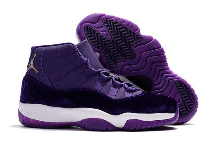2017 Air Jordan 11 Purple Velvet/White