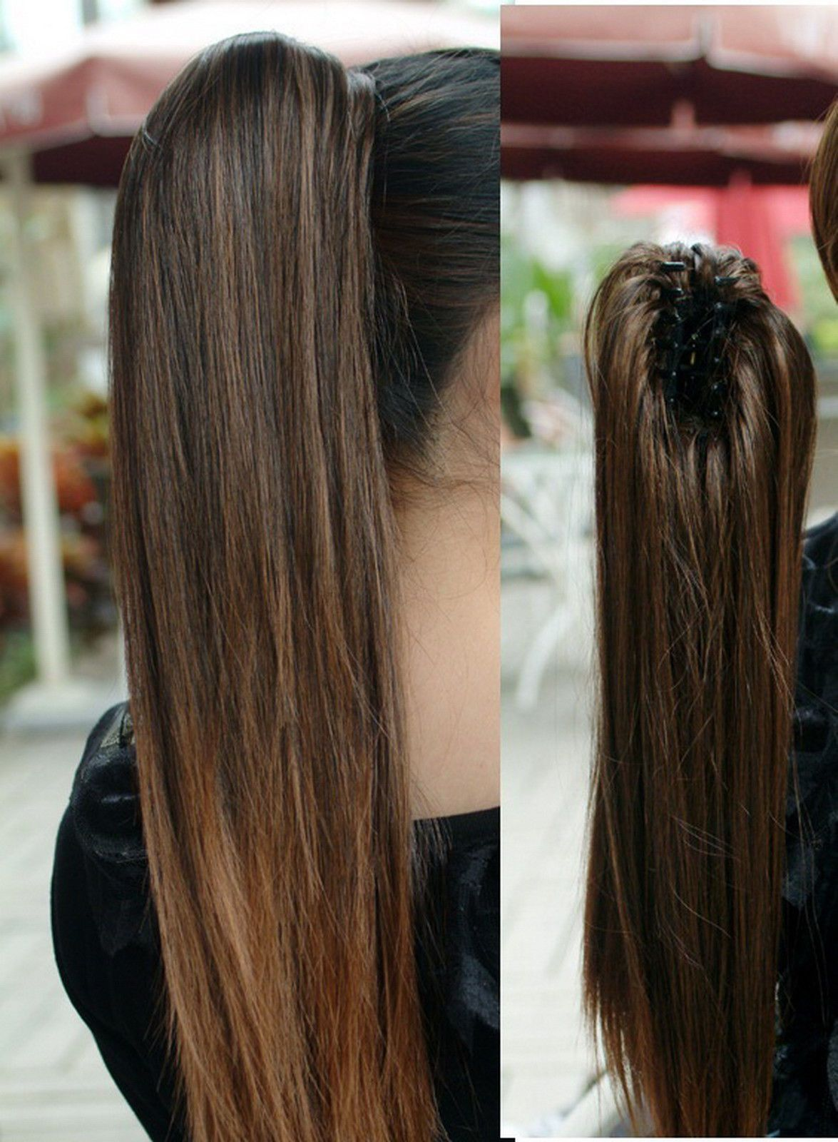 Best seller selectable colour claw clip real human hair ponytail