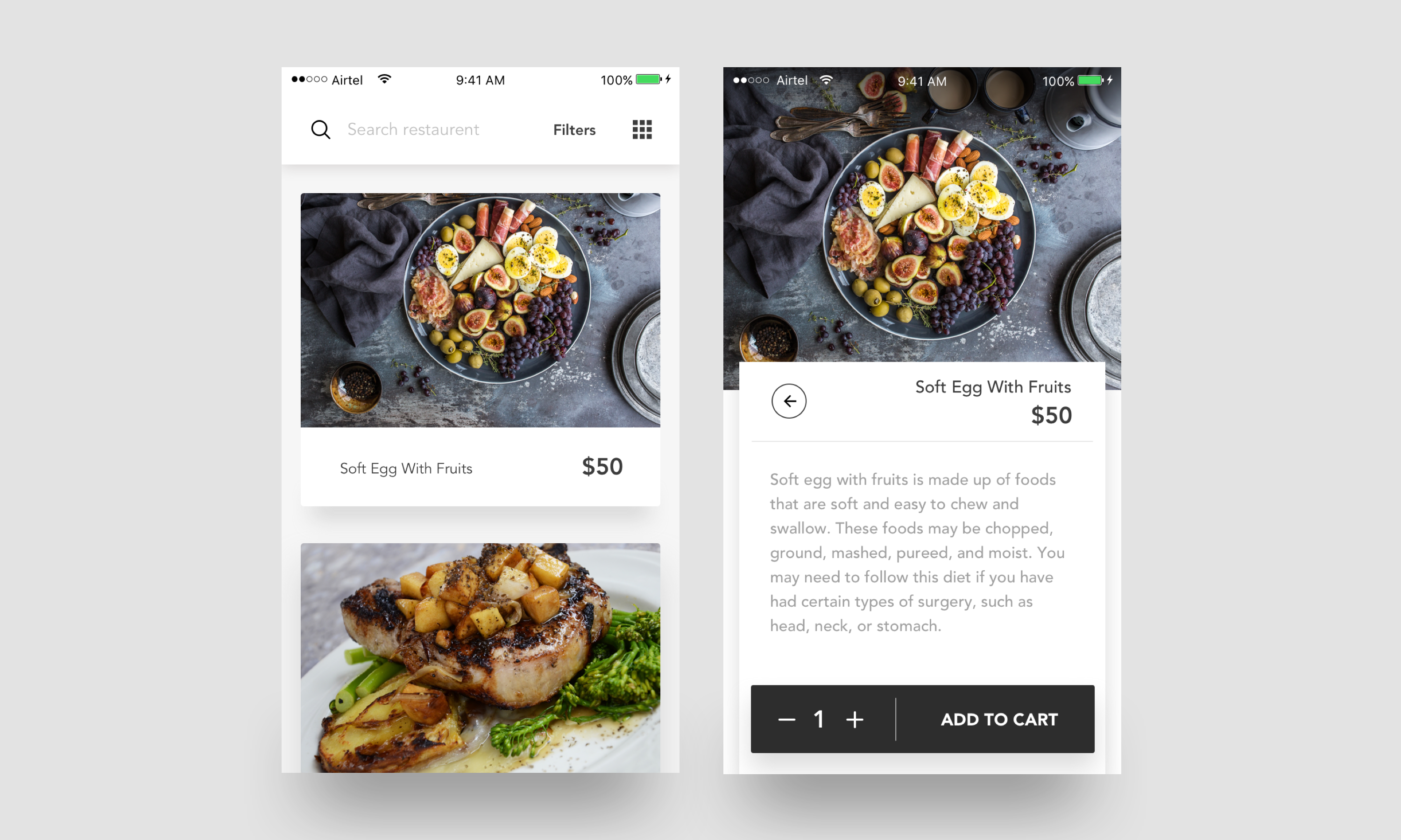 Food ios app sketch file premium download now on behance app i would like to show you a new food application concept for ios if you like it show some love by pressing l if you have any feedback on your mind forumfinder Gallery