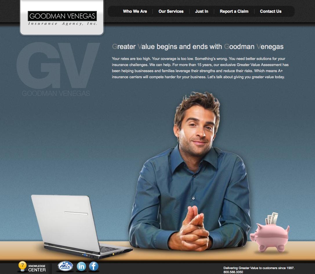 Goodman Venegas Insurance Agency Corporate Website Design And