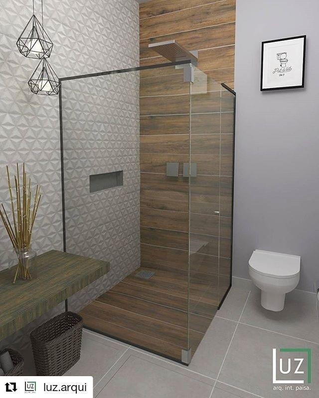 Photo of Badleuchten mit Holzporzellan. Architekt Rafael Luz – Badezimmer – #Architekt #Ba … – bathroom