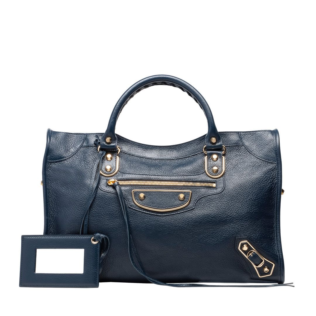 Balenciaga Metallic Edge Handbag Women ABYSS BLUE   BLACK - Discover the  latest collection and buy online Women on the Official Online Store. 4acdd88169e3d