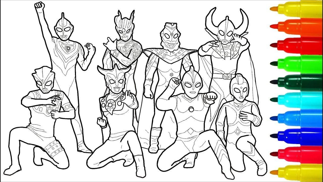 Ultraman Coloring Page Coloring Pages Printable Coloring Printable Coloring Pages [ 720 x 1280 Pixel ]