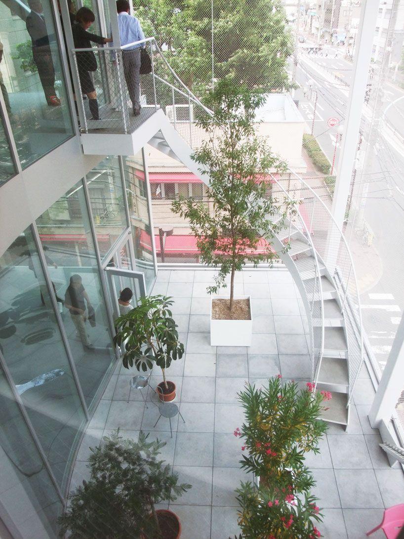 Kazuyo Sejima Shibaura House Office Building Tokyo Office Building Staircase Building Roof