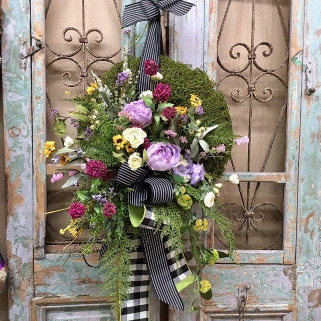Photo of Spring wreath, summer wreath, spring wreath, peony wreath