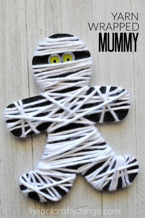 yarn-wrapped-mummy-craft