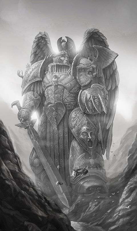 The statue of The Emperor of Mankind - the unbending will of the Imperium of Mankind.