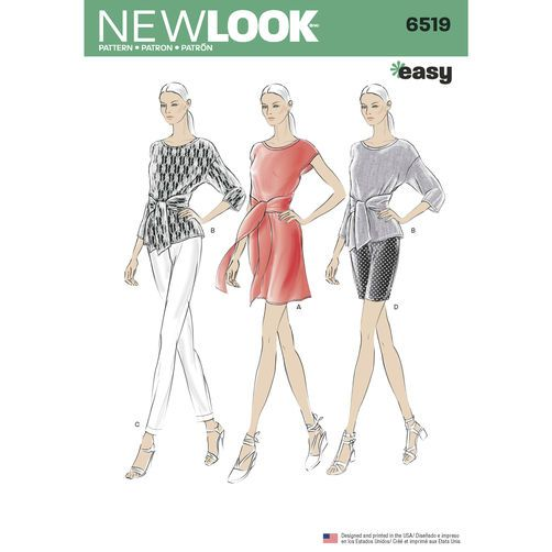 New Look Pattern 6519 Misses\' Dress or Top and Pants or Shorts | My ...