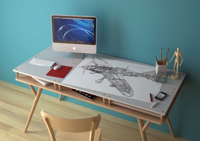 Le Bureau À Niveaux Ade Par Manrico Freda | Bureaus, Bureau Design