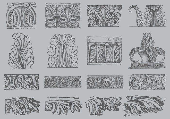 Acanthus Ornament Vectors