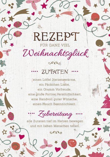 rezept für ganz viel weihnachtsglück | Geschenkideen | Pinterest ...