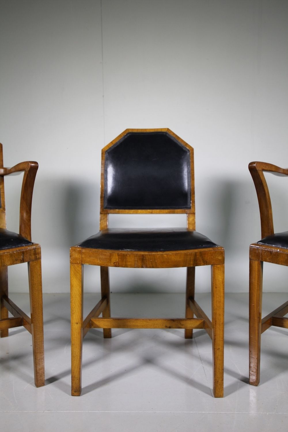 Astonishing Superb Set Six Antique Leather Dining Chairs By Heals Andrewgaddart Wooden Chair Designs For Living Room Andrewgaddartcom