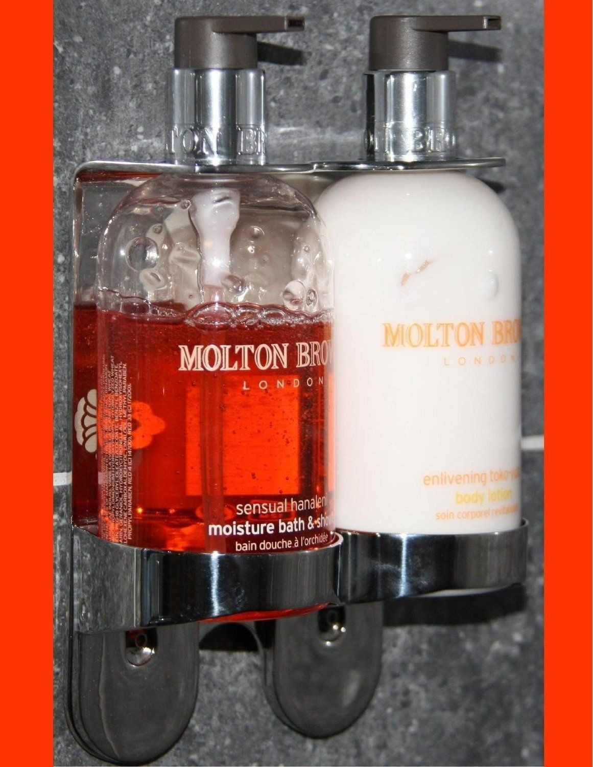 Double Chrome Handwash Holder Dispenser Arc Butler Wall Mount Molton Brown 300ml Bath And Shower Body Wash Hand Lotion Amazo Hand Lotion Bottle Molton Brown