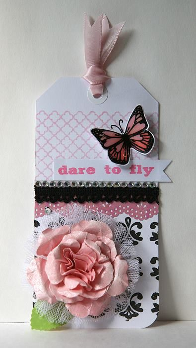 Shabby tag using Unity Stamps!