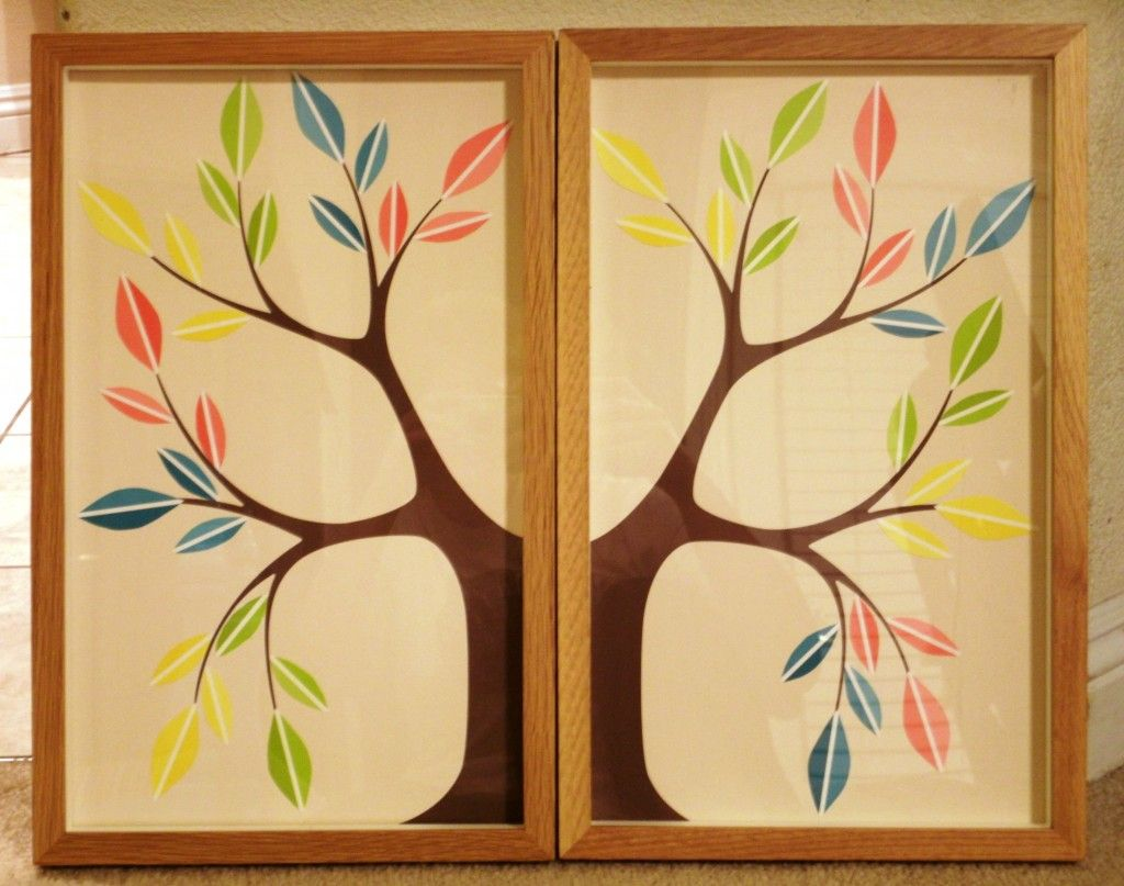 creative paint chip tree...would look better in neutral colors   DIY ...