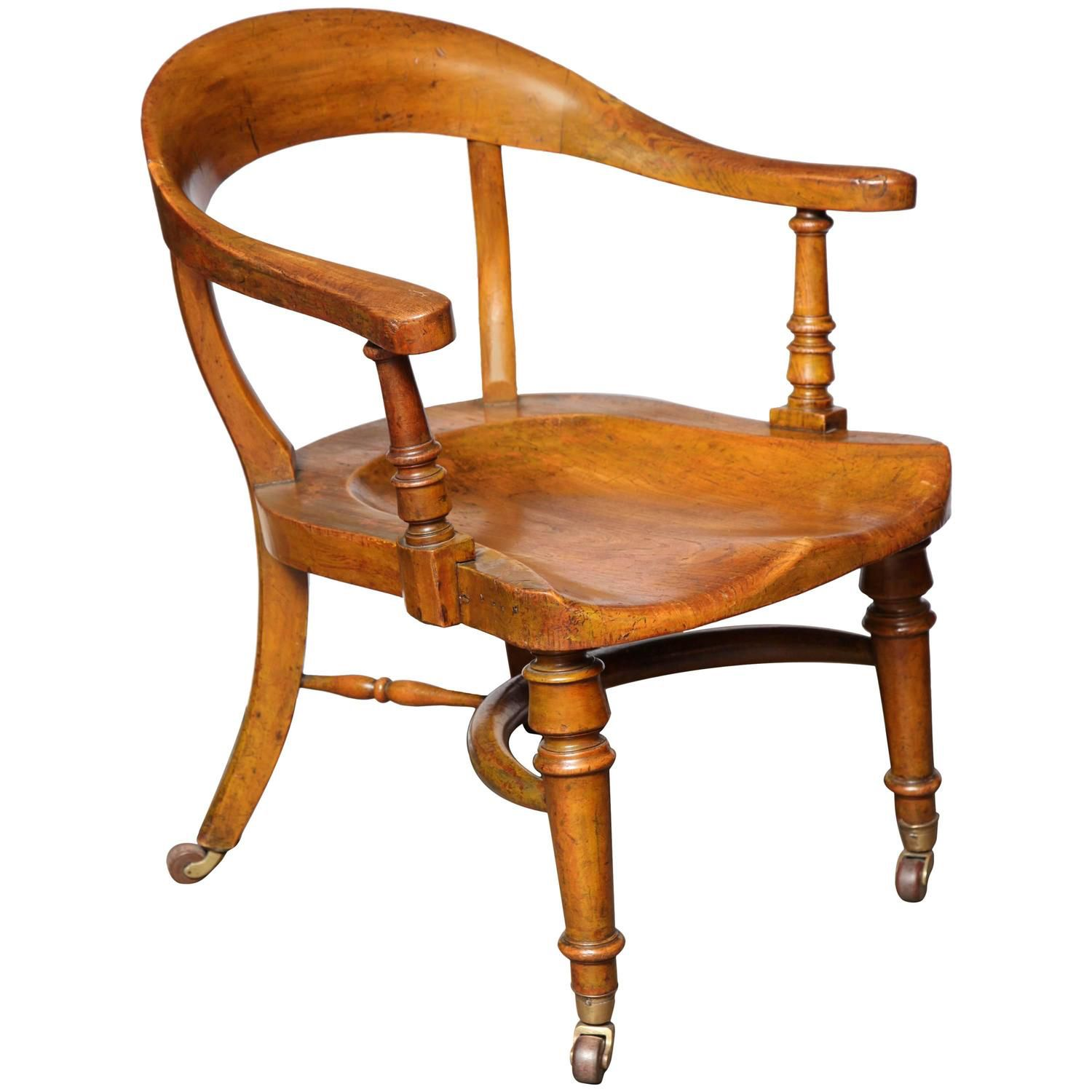 Desk Chair with Saddle Seat See more antique and modern Armchairs