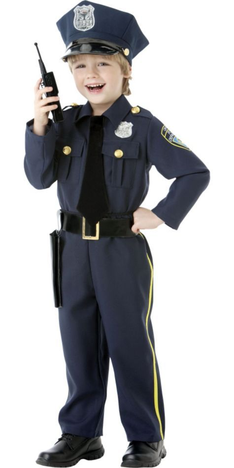 Boys Or Girls Classic Police Officer Costume Party City Police Officer Halloween Costume Police Costume Police Officer Halloween