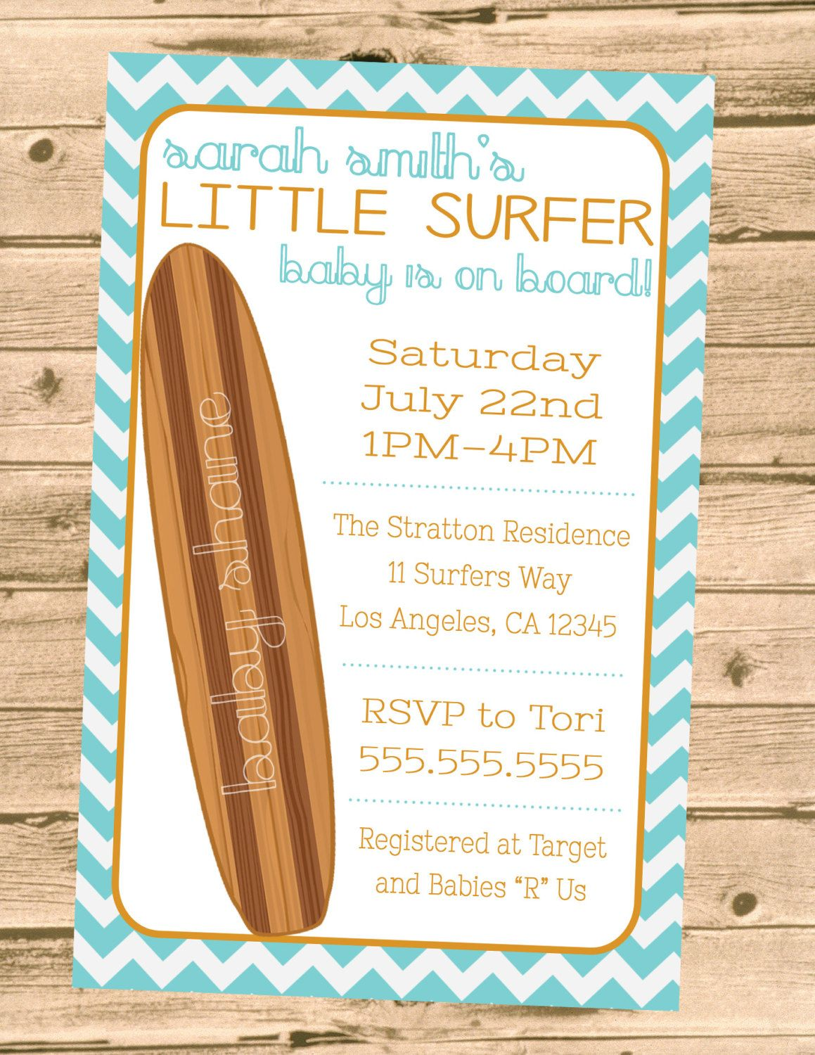 Surf Theme Baby On Board Shower By PartyPrincipessa Etsy