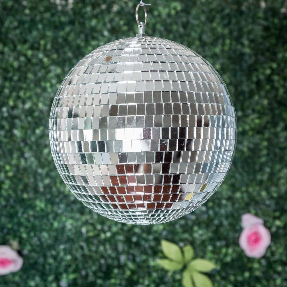 4 Pcs 6 Silver Glass Mirror Disco Balls Christmas Ornaments Glass Mirror Mirror Ball Disco Balls