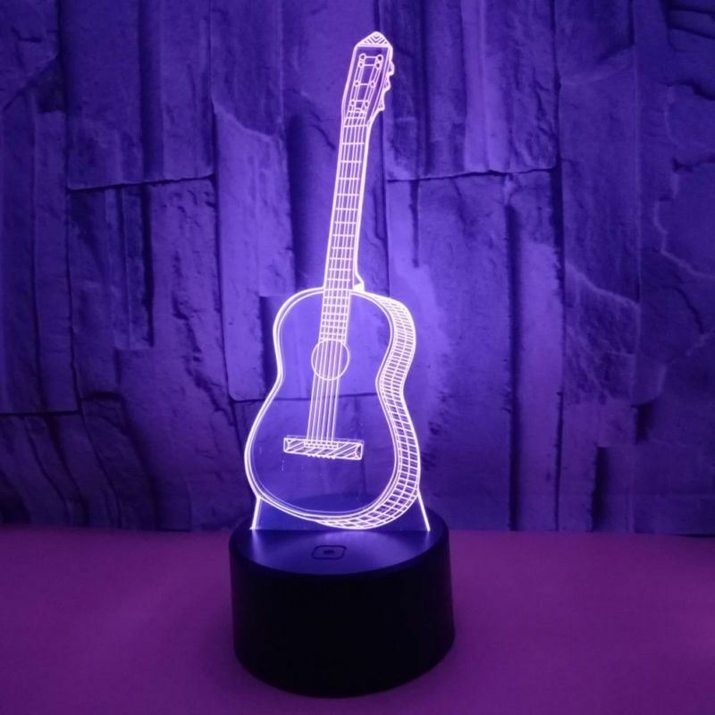 3d Led Illusion Usb Table Night Light Lamp Guitar Bedroom Child Gift 7 Color Usa Affilink Lamps Lampshades Lampshadeideasa Lamp Night Light Lamp Lamp Light