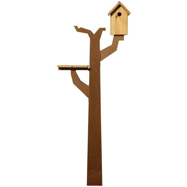 Maandag meubels Birdtreehut (440 CAD) ❤ liked on Polyvore featuring home, outdoors, outdoor decor, brown, outdoor garden decor, bird bowl, patio decor, garden decor and outdoor fall decor