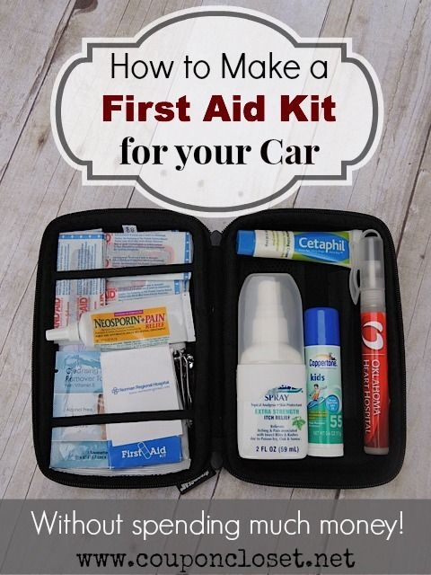 How To Make First Aid Kit For Your Car Frugal Travel First Aid Kit First Aid First Aid Kit Emergency Kit