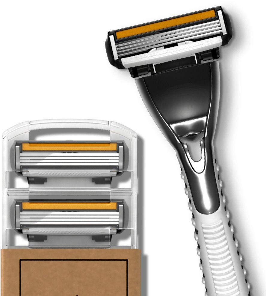 Dollar shave club 4x razor system handle 4 4blade
