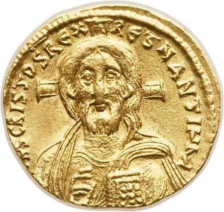 Justinian II (first reign, AD 685-695). AV solidus (20mm,4.37 gm, 6h)