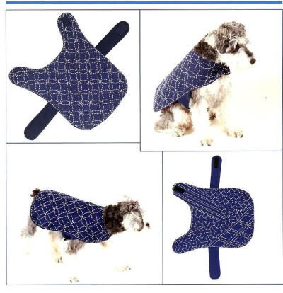 Sashiko coats for dogs i love the one on the left for Dog coat template