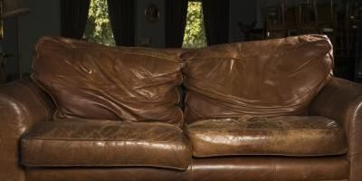 How To Re Cover A Leather Sofa Ehow Uk Faux Leather Couch Leather Couch Leather Furniture