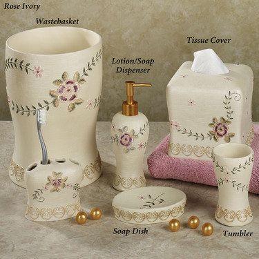 Bella Rose Bath Accessories Victorian Decorating Ideas