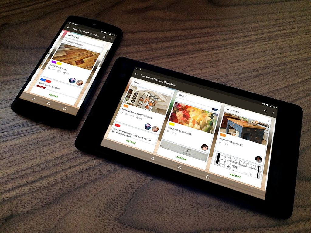 Trello for Android Now with 100 More Material