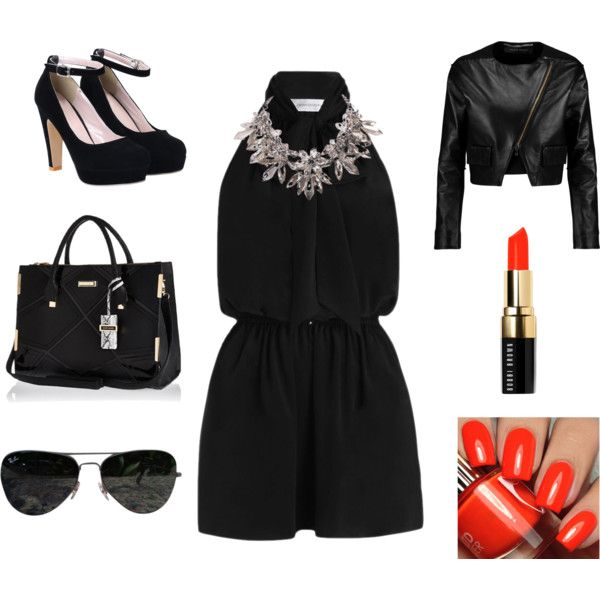 Grwm clubbing by ikra7864 on Polyvore featuring polyvore, fashion, style, Roland Mouret, Zimmermann, River Island, Ray-Ban and Bobbi Brown Cosmetics