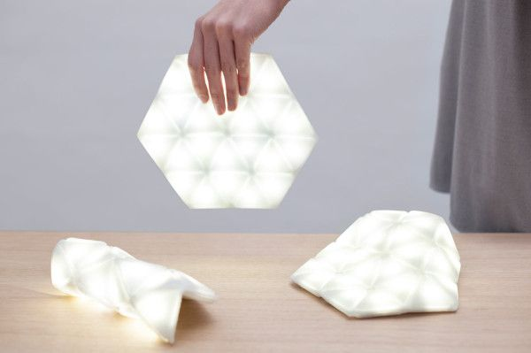 Kangaroo: A Portable Light That's Also Flexible by Studio Banana. An interesting concept, I could just imagine this lighting the interior of a handbag.