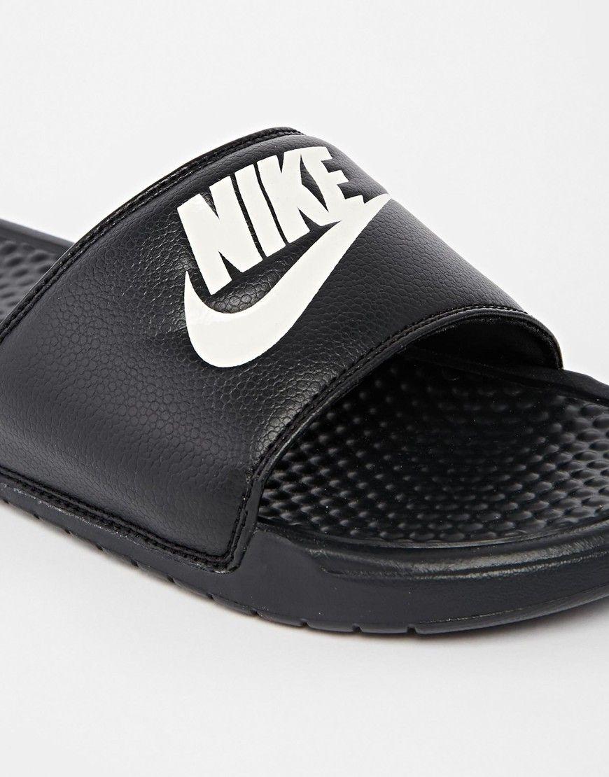 promo code 06638 ad2b6 Image 4 of Nike Benassi JDI Slider Flip Flops 343880-090