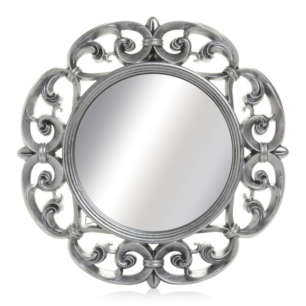 Wilko baroque mirror silver 87x62cm - Wilko Ornate Mirror Round