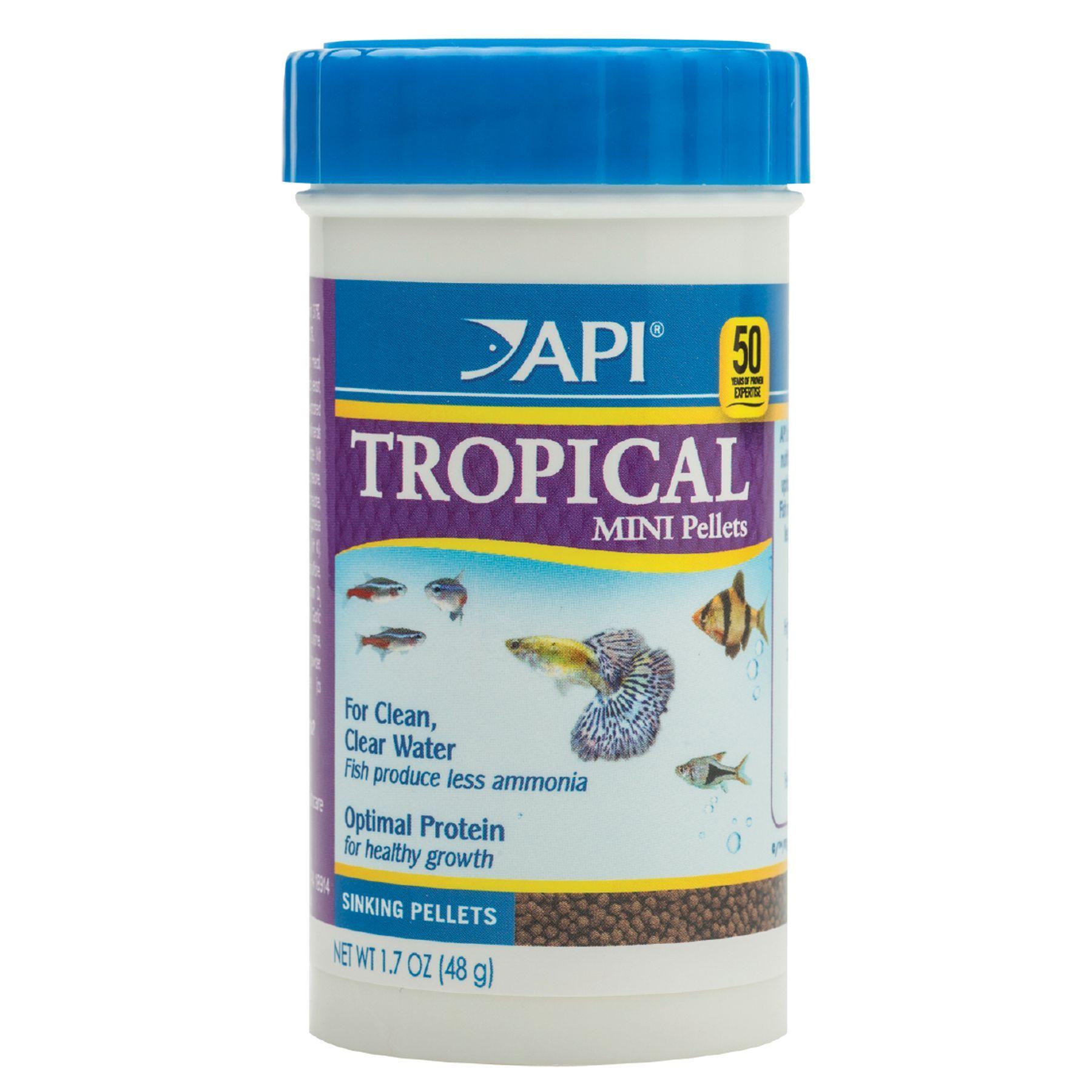 Api tropical mini pellets shrimpvanilla food feeder