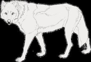 Free Lineart Wolf By Makangeni On Deviantart Wolf Base Wolf Dog Drawing