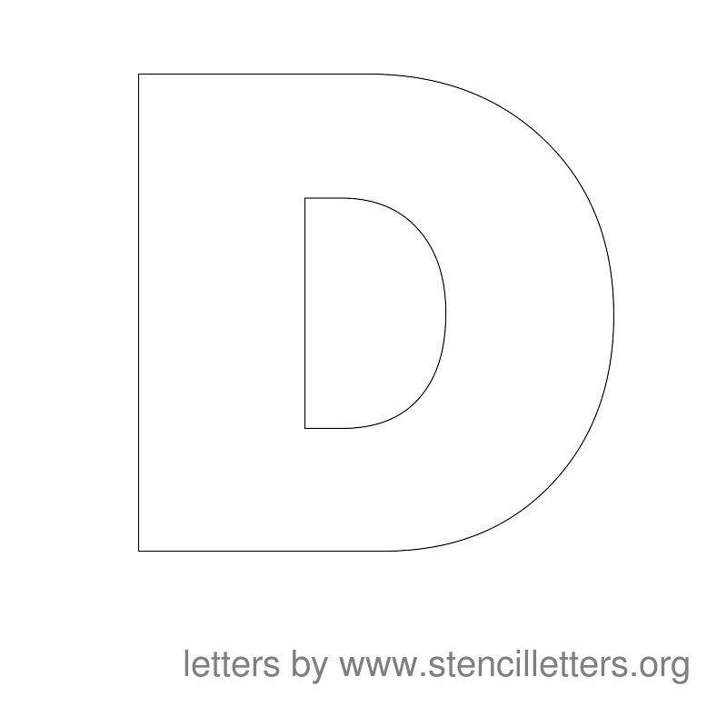 Large Stencil Letters Alphabet D Dylan Art Time Stencils Letter