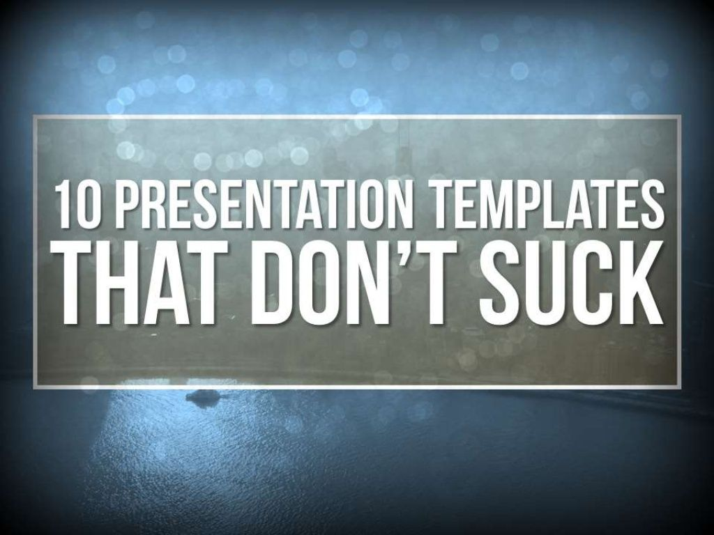 10 PowerPoint Templates That Don\'t Suck by Presentation Panda via ...