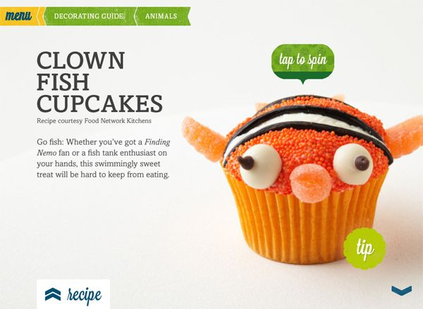 Clownfish cupcake- no instructions just a pic for reference